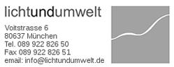 Logo von lichtundumwelt GmbH